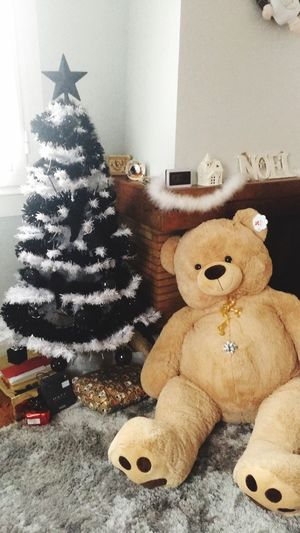 Joyeux Noël 🎁 ❄️🎄 Stuffed Toy Christmas Teddy Bear Home Interior Christmas Decoration Paris Christmas MerryChristmas Christmas Tree Magical Winter Day