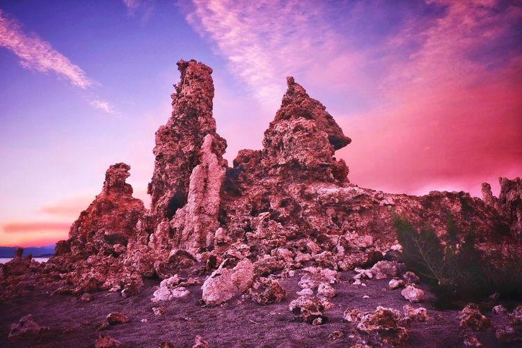 Tufa Mono Lake Mono Lake California Galaxy Astronomy Sunset Pink Color Rock - Object Sky Landscape Rock Hoodoo Rock Formation Physical Geography