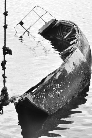 Blackandwhite Boat ExploringBrazil Eye4photography  EyeEm Best Shots Getting Inspired Monochrome Monochrome Photography Outdoors Sinking Sinkingboat Water