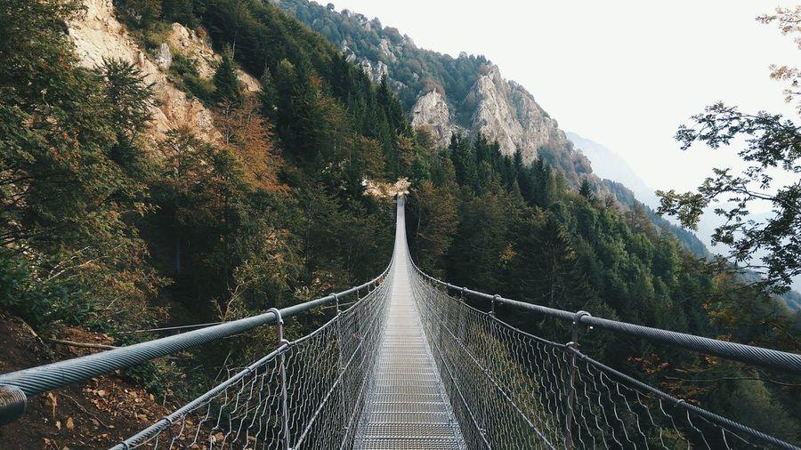 Footbridge On Mountain