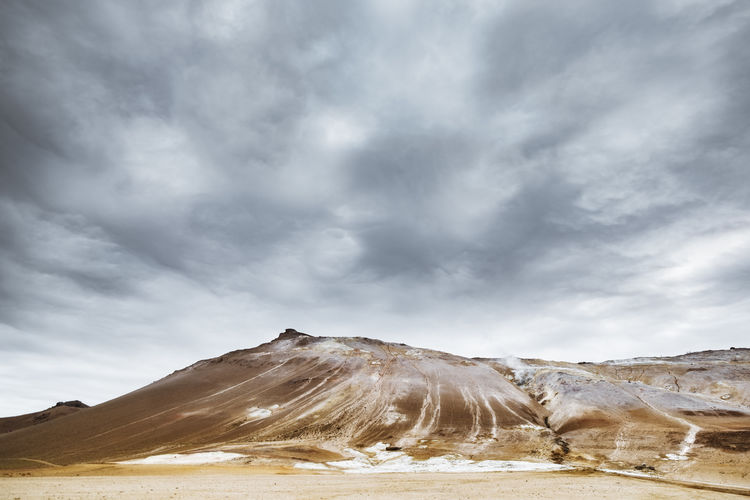 An Icelandic landscape Cloudscape Dramatic Sky Iceland Ominous Arid Climate Beauty In Nature Climate Cloud - Sky Clouds Clouds And Sky Cold Temperature Day Environment Land Landscape Mountain Mountain Range Nature No People Non-urban Scene Outdoors Overcast Power In Nature Scenics - Nature Sky