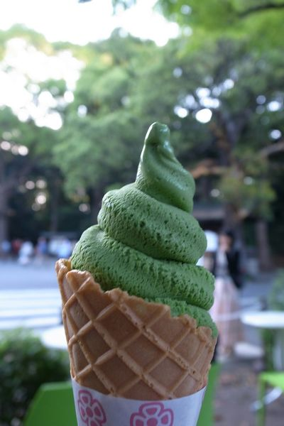 Ice Cream Matcha Sweets 抹茶ソフトクリームを頂きました♪