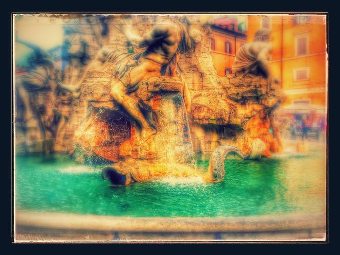 Digital Composite Impessionen No People Outdoors Rom Scenics Selective Focus TreviFountain Water