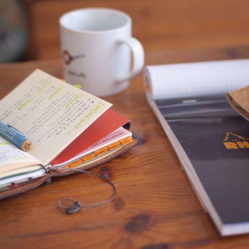 メモをエバーノートに放りこむ Travelersnotebook Midori Rhodia