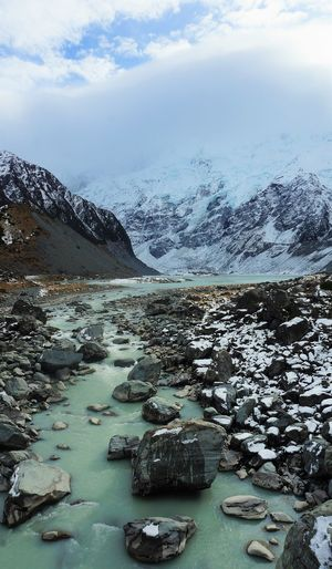 My Cook Water Water Glacier Mountain Beauty In Nature Cold Temperature Winter Outdoors New Zealand The Great Outdoors - 2017 EyeEm Awards The Week On EyeEm Lost In The Landscape Perspectives On Nature