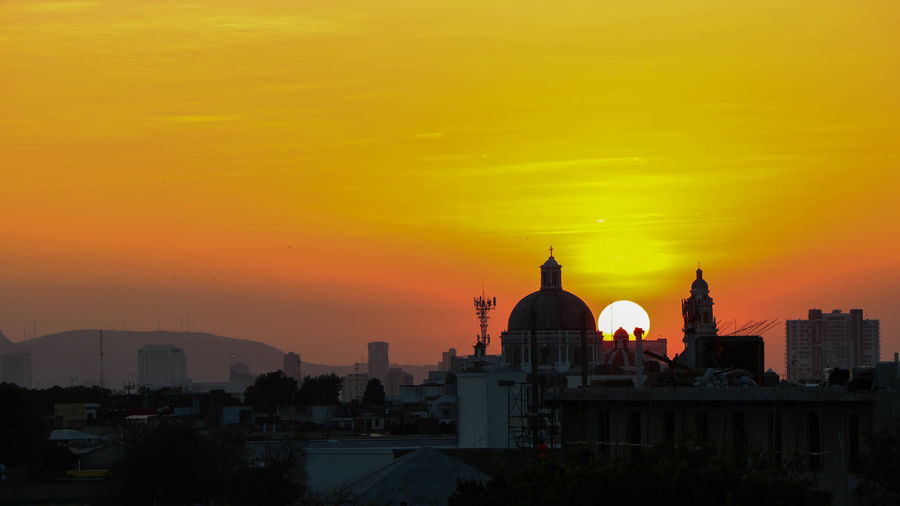 Architecture Building Exterior Built Structure City Cityscape Dome Gold Colored Night No People Outdoors Place Of Worship Religion Sky Spirituality Sunset Travel Destinations