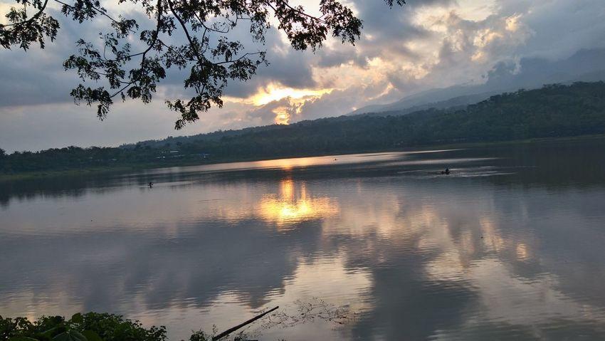 Reflection Lake Nature Sunset Water Scenics Landscape Mountain Sky Tree Outdoors Cloud - Sky
