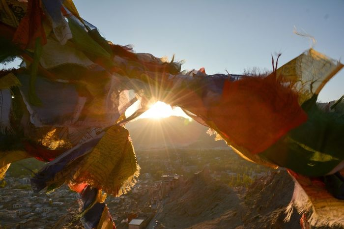 Shining Through EyeEmNewHere Tibetan Prayer Flags Nikon D7100 Nikon Prayer Flags  Lens Flare Sunlight Nature No People Beauty In Nature Outdoors Day EyeEmNewHere An Eye For Travel