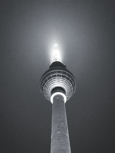 City Illuminated Skyscraper Modern Communication Tower Tall - High Sky Architecture Building Exterior Television Tower Communications Tower German Culture International Landmark Tourist Attraction  Downtown District Television Industry Broadcasting Urban Skyline Television Tower - Berlin