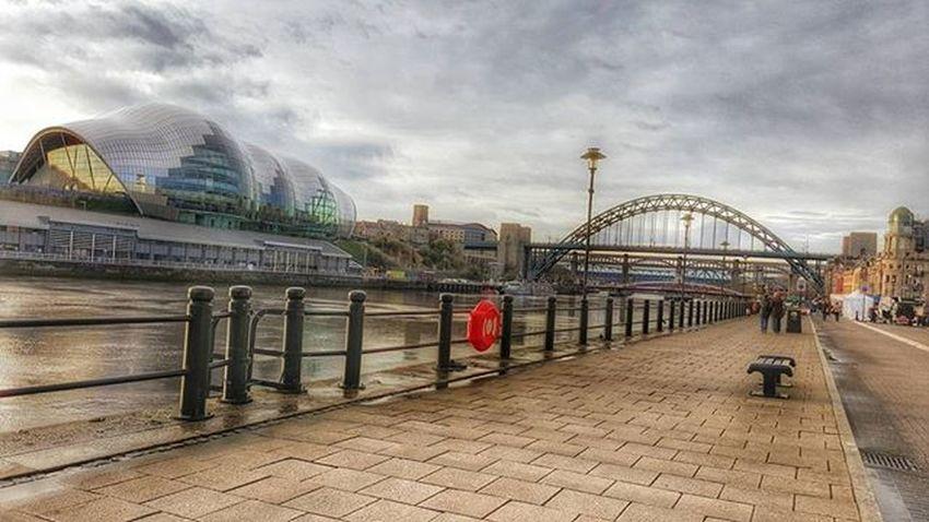 Tyne River Tyneriver River Newcastle Newcastleupontyne Gateshead Quayside Skyline Clouds Bridge Tynebridge  Hdr_captures