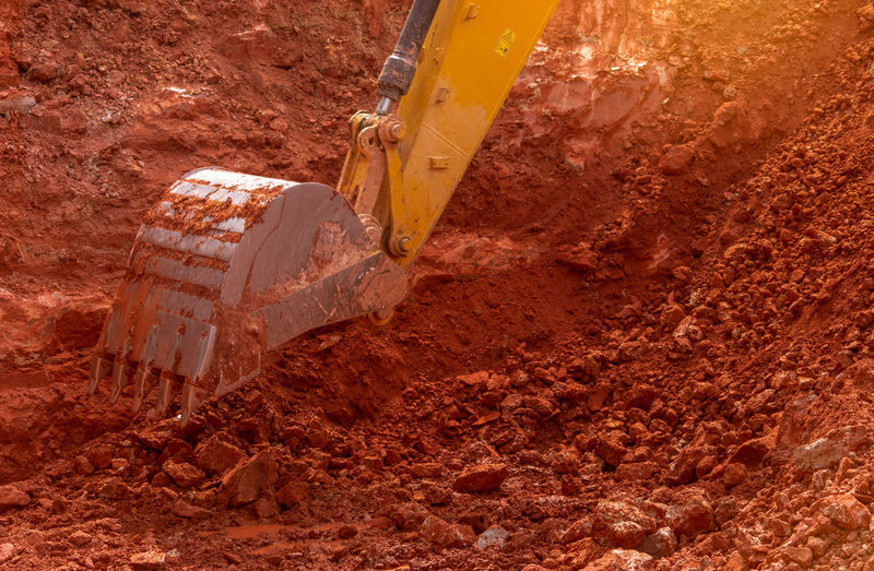 Tilt image of construction site