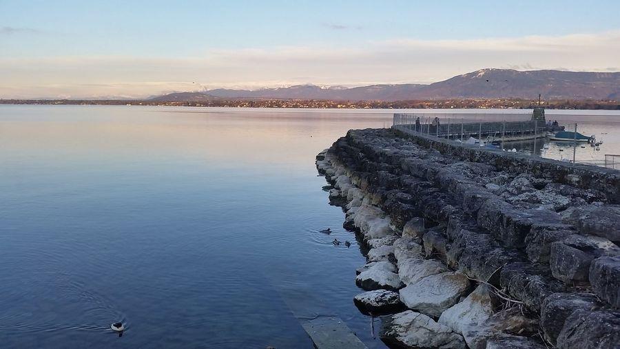 Groyne on lake geneva