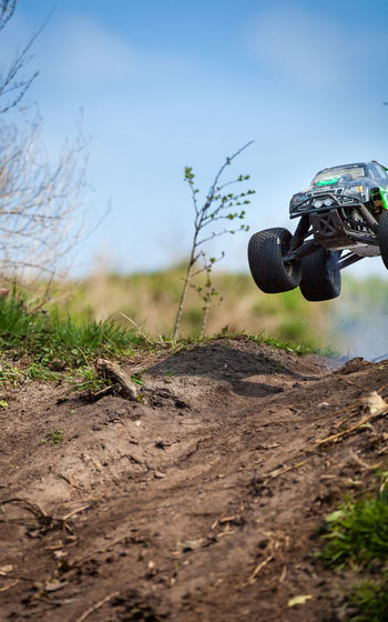 Action Car Close-up Day Dirt Dirty Field Flying Focus On Foreground Fun Land Vehicle Monster Trucks No People Non-urban Scene Outdoors The Drive Playing RC Rc Car Selective Focus Toy Toys Tranquility Truck Need For Speed