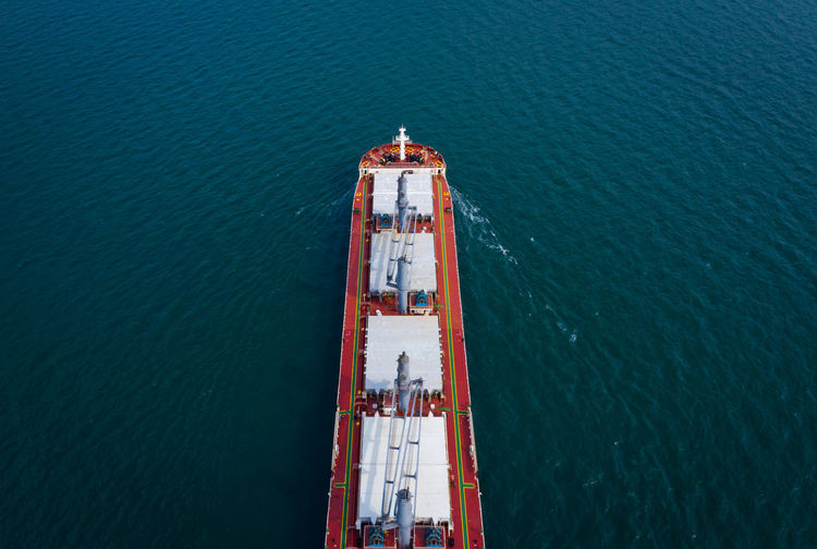Water Sea High Angle View Nature No People Nautical Vessel Day Fuel And Power Generation Transportation Architecture Built Structure Mode Of Transportation Travel Outdoors Freight Transportation Blue Oil Industry Industry Steel Import/export International