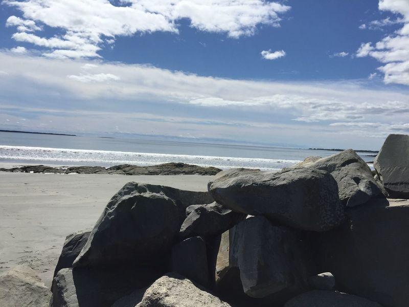 Ocean playground Beach Rock Sandy Beach Beauty In Nature Tranquil Scene Rock Sand Outdoors