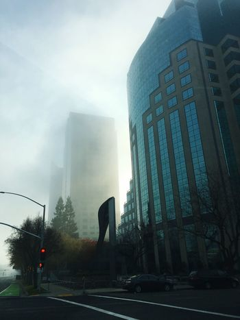Misty morning in DT Sacramento Architecture Built Structure City Building Exterior Skyscraper Mist Fog Morning