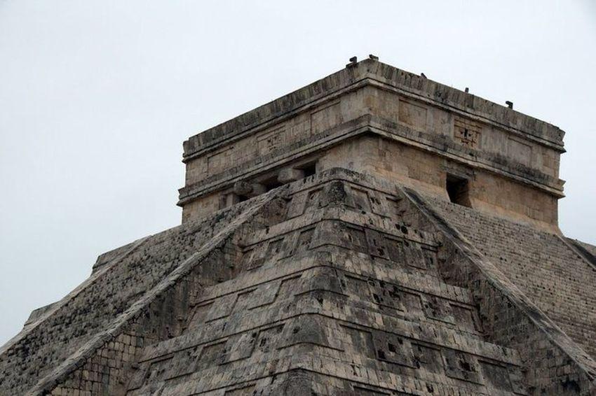 Ancient Mayan Pyramid, El Castillo. Chichen Itza Mayan Architecture Yucatan Mexico