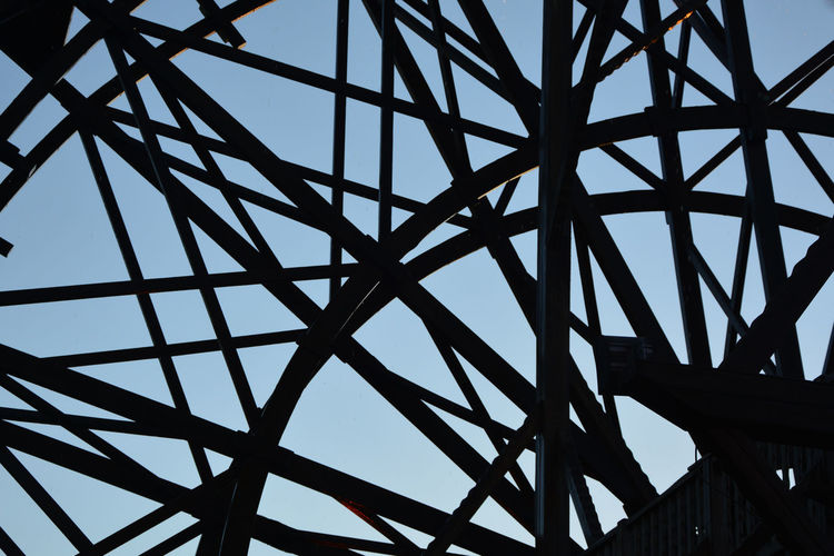 Architecture Backgrounds Built Structure Clear Sky Close-up Complexity Connection Day Design Full Frame Grid Low Angle View Metal Nature No People Outdoors Pattern Silhouette Sky Sunlight