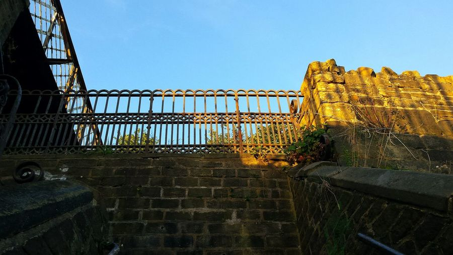 Getting Creative with light and viewpoint. Creative Light And Shadow Sunny Blue Sky Steps Railings Bridge Canal Happyvalleysowerbybridge Architecture