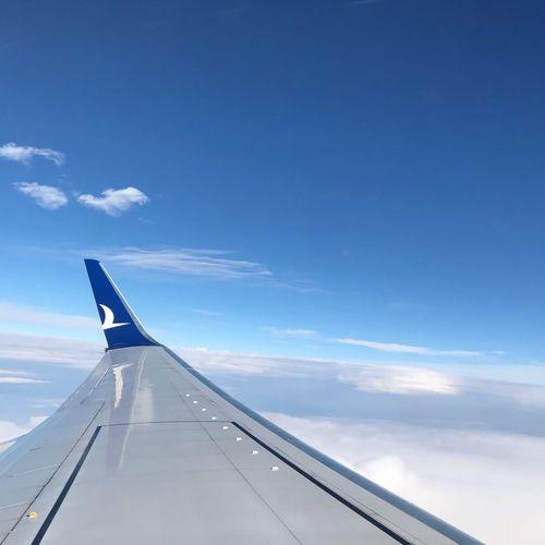Uçmayan kalmasın! Uçakkanadı Kanat Ucak Anadolujet Sky Cloud - Sky Air Vehicle Aircraft Wing Airplane Blue Nature Flying First Eyeem Photo