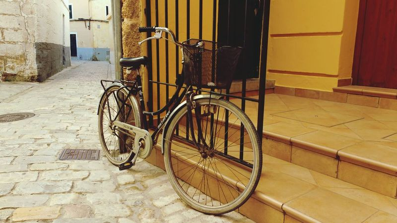 Urban Ciutadella Menorca Balearicislands SPAIN Bike Bicycle Vintage Vintage Bicycles Vintage Bike Summer Travel Destinations City Life City Street Old Buildings Old Bike Showcase July