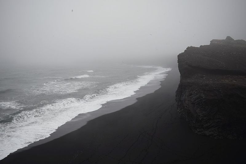 Beach Beauty In Nature Black Beach Black Beach Sand Day Horizon Over Water Iceland Nature No People Outdoors Scenics Sea Sky Volcano Water Wave