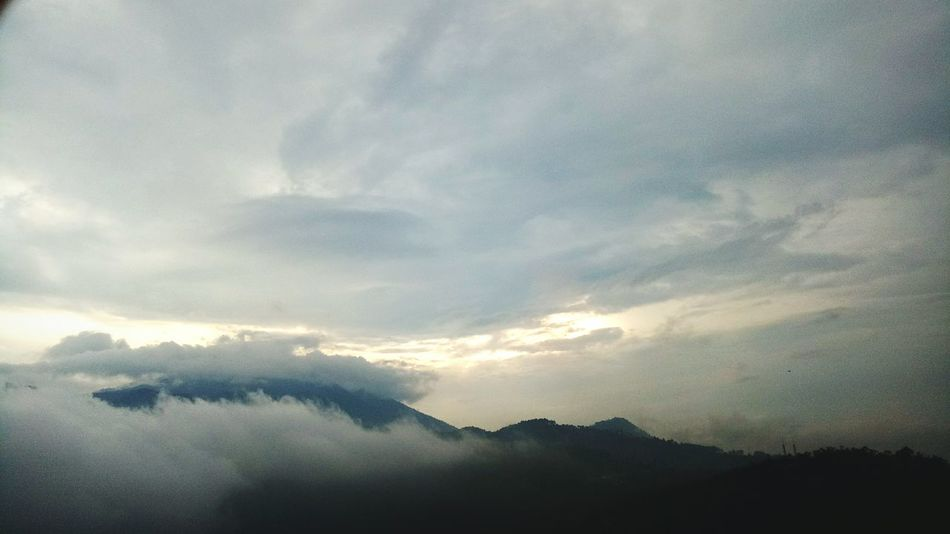 EyeEmNewHere Mountain Dramatic Sky Landscape Sunset Beauty In Nature Scenics Cloud - Sky No People Nature Outdoors Sky Indonesia_photography Vacations Beauty In Nature Fog