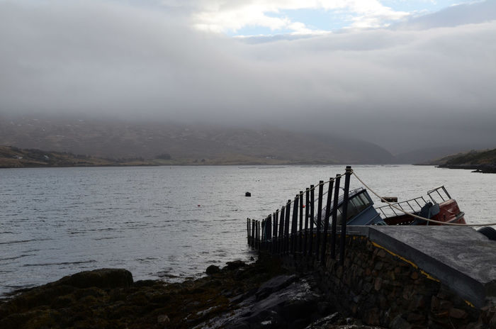 Boat Body Of Water Cloud - Sky Dock Fjord Mountains Mussel Farm Outdoors Ramp Water Weather