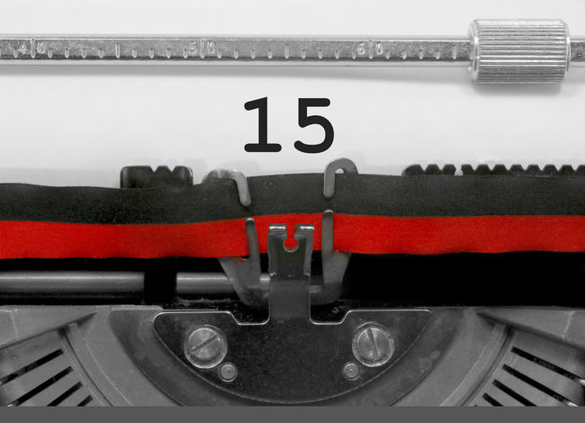 15 Number by the old typewriter 15 15 Years BIG NR Numbers Only Retro Text Type Writer Word Writing Backgrounds Nostalgia Number Numbers Numeral Numerals Numeric Page Single Teens Typewriter Typewriting Typing Vintage Written