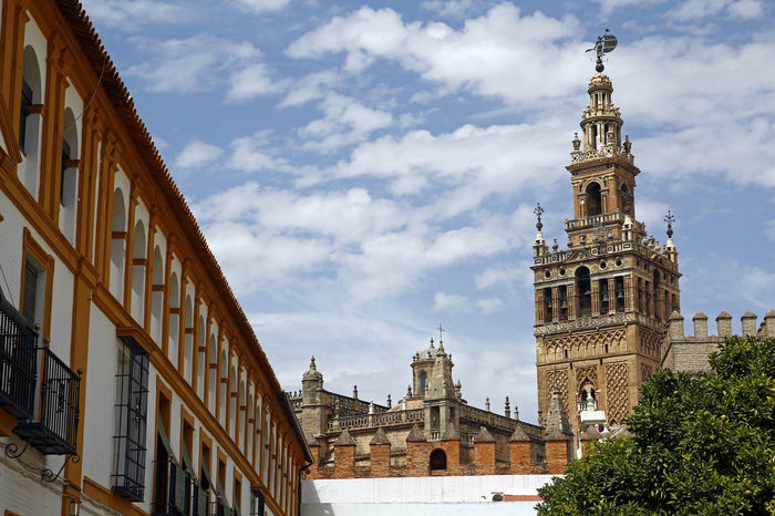 La Giralda, Sevilla Cathedral La Giralda SPAIN Sevilla Seville Architecture Building Exterior Built Structure City Cloud - Sky Day No People Outdoors Place Of Worship Sky Tower Tower Bell Travel Destinations