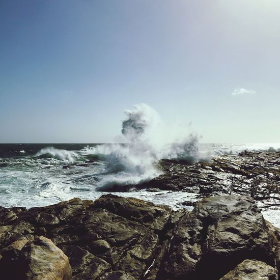 South Africa Power In Nature Nature Breaking Sea Rough Beauty In Nature Motion Outdoors No People Horizon Over Water