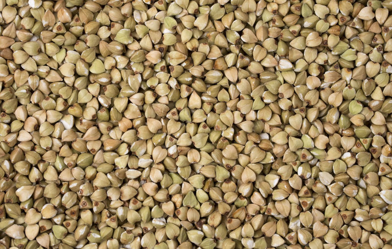 Natural fresh green buckwheat as background. Top view. Natural; Agriculture; Diet; Food; Raw; Vegetarian; Fresh; Ingredient; Grain; Uncooked; Background; Healthy; Cereal; Green; Texture; Macro; Crop; Buckwheat; Nutrition; Meal; Dry; Organic; Cooking; Seed; White; Harvest; Plant; Vegan; Closeup; Cuisine; Unroa Abundance Large Group Of Objects Full Frame Food And Drink Food Backgrounds Healthy Eating Wellbeing Freshness No People Raw Food Bean Still Life Close-up Seed Indoors  Repetition High Angle View Market White Color Legume Family Vegetarian Food