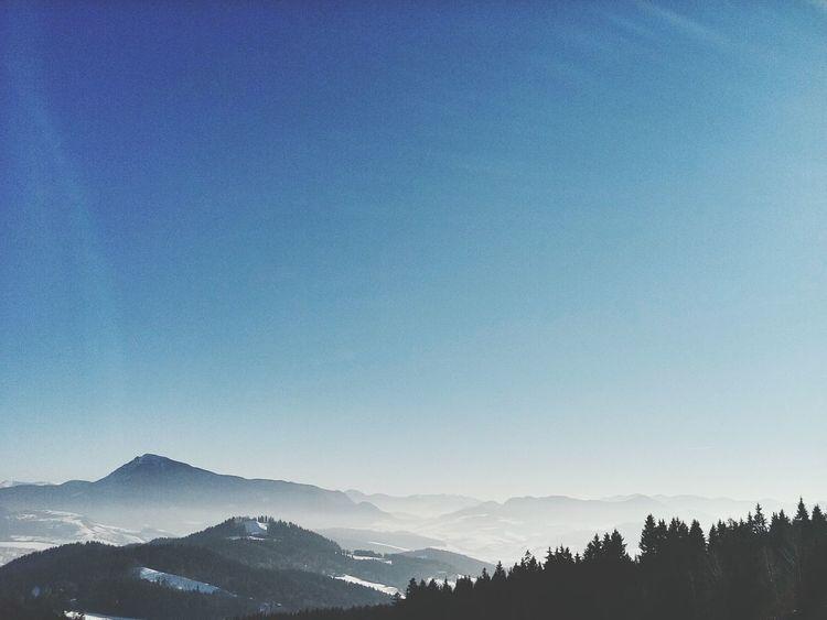 Winter Landscape Landscape Layers Blue Sky Mountain Scenics Mountain Range Mountain View Forest