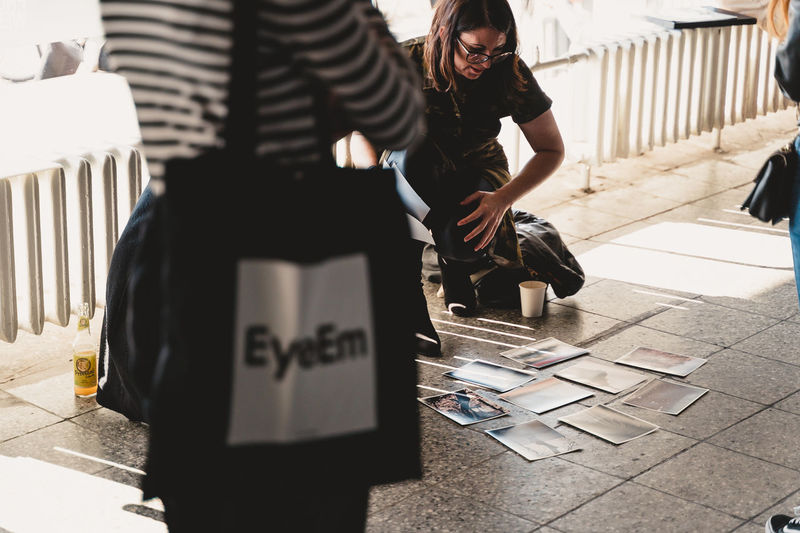 Berlin Photo Week 2018 Berlin Photo Week BPW18 EyeEem Real People Two People People Men Women Adult Day Standing Casual Clothing Lifestyles Clothing Sunlight Front View Text Outdoors Communication Architecture Leisure Activity