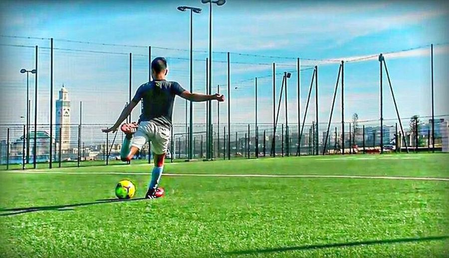 shouuuuuT Soccer Field Sport Healthy Lifestyle Full Length Playing Athlete Sportsman