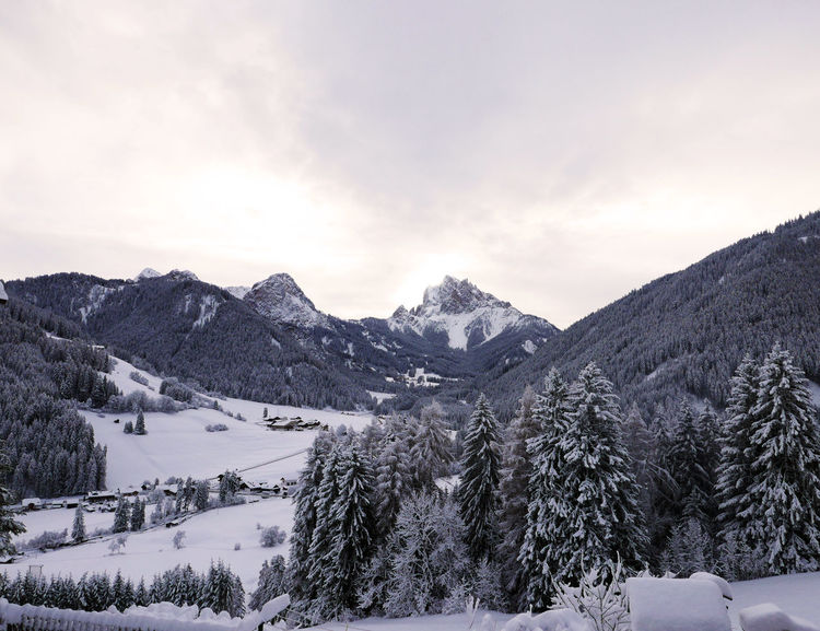 Cold Temperature Mountain Mountain Range Scenics Snow Snowcapped Mountain Tranquil Scene Tranquility Val Pusteria White Color Winter