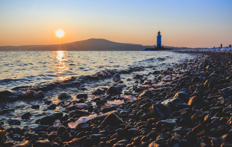 Horizon Over Water Cold Temperature Russia Sea Nature Water Outdoors Frozen Russia Far Eastern Lighthouse Beauty In Nature EyeEm Best Shots Travel Destinations Cloud - Sky