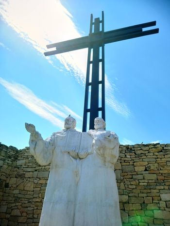 Wind Power Statue Cross Sculpture Oil Pump Agriculture Spirituality Religion Business Finance And Industry Wind Turbine Cross Shape