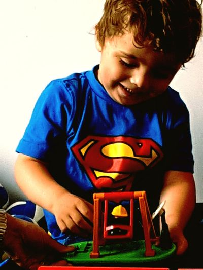 My son, my proud, my love Love Son Playtime Supermanshirt Children Only Boys Playing Indoors