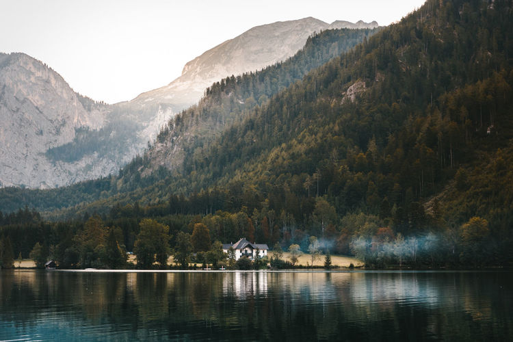 Save haven - a place to be! Austria Beauty In Nature Countryside Forest Geology Horizontal Symmetry Lake Majestic Mountain Mountain Range Nature Outdoors Reflection Scenics Smoke Symmetry Tranquil Scene Tree Water