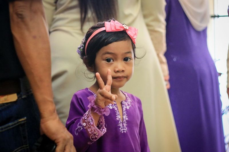 Girls Daughter Mother Child Females Portrait Two People Looking At Camera Girls Lifestyles People Adult Outdoors Day cute Malay Wedding Malaysia Photography Malaysiangirl Memories Purple Color Children's Portraits Married With Children Wedding Dress Married Life Bridle