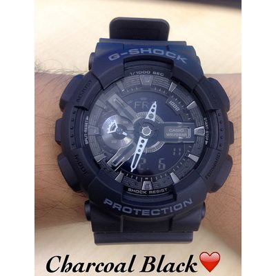 One of my custom G's. And I shall call you Charcoal Black... 😊Love it! ❤️ Gshock_Lover