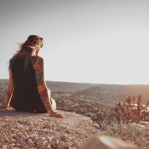 Tattoo Inked Inkedgirls Tattooedgirls Jenzig Jena Psychobilly EyeEm Selects Sand Dune Young Women Beach Sand Desert Full Length Summer Sky
