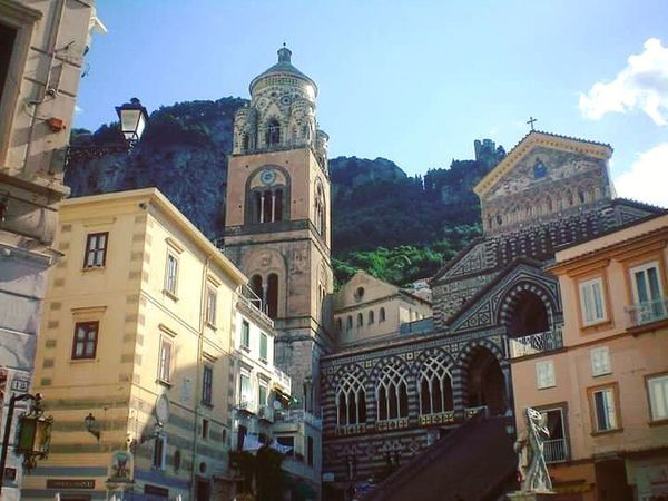 Piazza Duomo - Amalfi, Italy. Travel Destinations Architecture Building Exterior Travel Traveling Travel Photography Travelphotography Vacations Europe Trip Europe European Architecture Scenics Architecture Amalfi Coast Amalficoast Amalfi  Italy