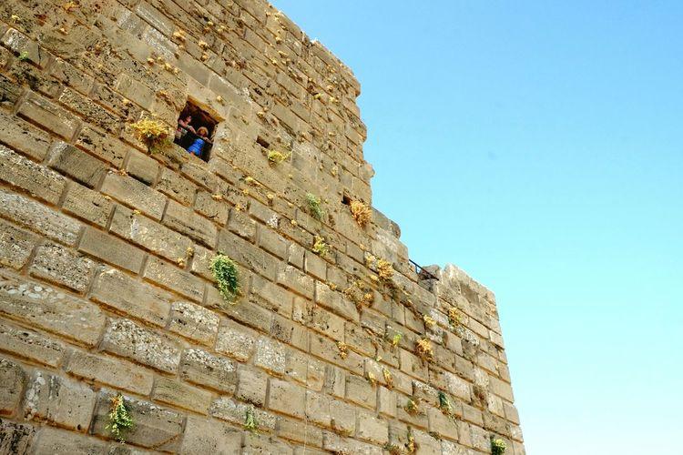 Lookingup Architecture Taking Photos Of Tourists People Watching Blue Lebanon Byblos LiveLoveLebanon