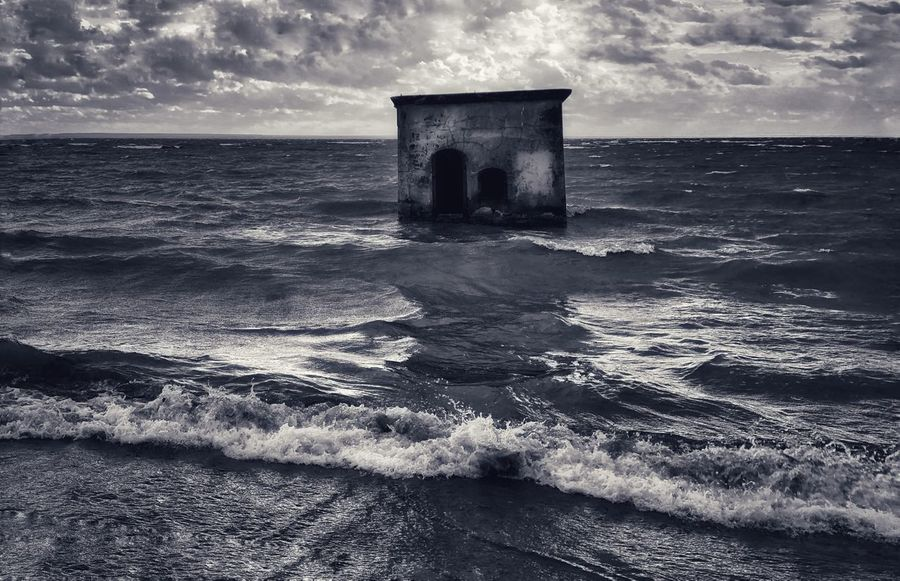 Island Kotlin, old fort Kotlin Old Fort Storm Sky Sea Water Horizon Over Water Nature Horizon Cloud - Sky
