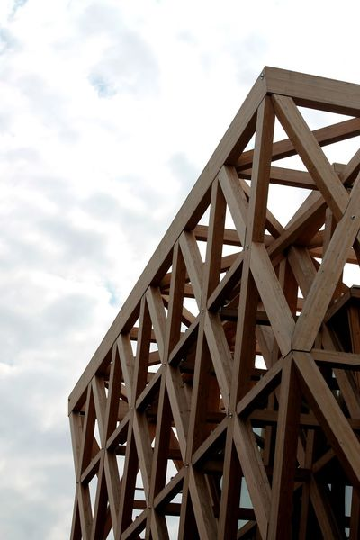 Architectural Detail Architecture Architecture Architecture_collection Architecturelovers Architectureporn Built Structure Connection Expo Expo Milano 2015 Expo2015 Exposure Grid Low Angle View Metal Metallic No People Outdoors Pattern Structure Wood Wood Architecture Wood Sculpture Wood Structure