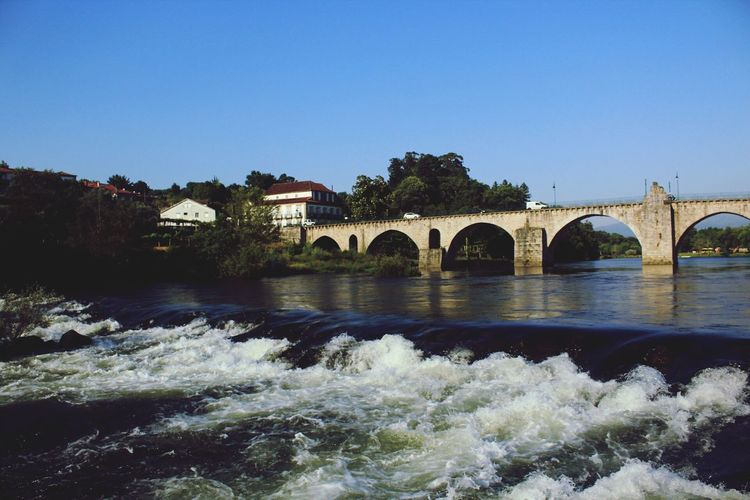 Trowback to the summer vacations. Missing the heat 🌇 Summertime Summer Views Summertrip Summer2016 Travel Destinations Tourism Travel Water Bridge Architecture Outdoors Built Structure History No People Vacations Nature Portugal Pontedelima Blue Nature Canon_photos Canon1200d Beauty In Nature Trowbackphoto Canonphotography