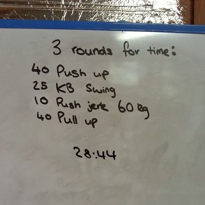 When it went on the board it didn't look so hard... Crossfit Crossfitaustralia Strongman Strength Fitness Unbroken