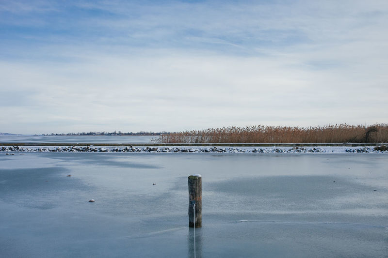 Harbour Balaton Cloud - Sky Cold Temperature Day Frozen Ice Lake Nature Nautical Outdoors Sky Snow Water Weather Winter